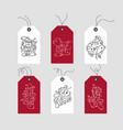set hand drawn doodle scandinavian christmas vector image vector image