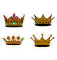set of royal crowns vector image vector image