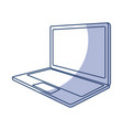 shadow laptop cartoon vector image vector image