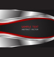 silver red and black color abstract background vector image vector image