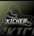 sniper mascot esport logo vector image