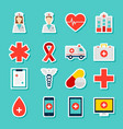 stickers medicine health vector image vector image