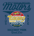 stock car kid speedway racing team vector image vector image