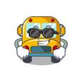 super cool school bus character cartoon vector image vector image