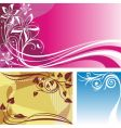 three backgrounds vector image vector image