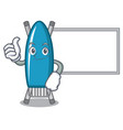 thumbs up with board iron board character cartoon vector image vector image