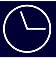 Time or deadline icon of set white outlines vector image vector image