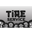Tire service with wheel seamless border Shining vector image vector image