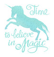 turquoise watercolor unicorn silhouette and vector image