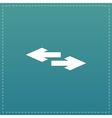 Two side arrow icon vector image