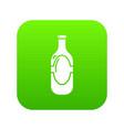 vodka icon green vector image vector image