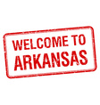 welcome to Arkansas red grunge square stamp vector image vector image
