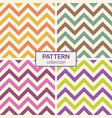 zigzag color lines seamless patterns vector image vector image