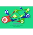Shiny abstract geometric forms vector image