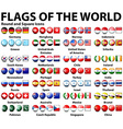 Round and square icons of flags of the world vector image