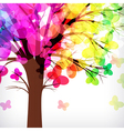 abstract background tree with branches made of vector image vector image