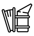 apiary smoker icon outline style vector image vector image