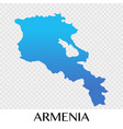 armenia map in asia continent design vector image vector image