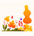 autumn garden - modern flat design style vector image