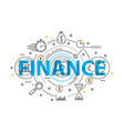 banking service and finance concept vector image vector image