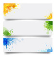 banners set with blobs isolated white background vector image vector image