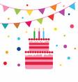 birrhday cake celebration vector image vector image