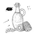 bottle of corn cooking oil hand drawn vector image