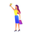 business woman taking selfie vector image