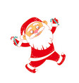 christmas santa claus with candy cane vector image