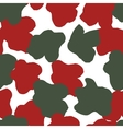 Color flower seamless pattern in military design vector image