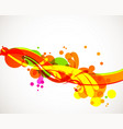 colorful splash vector image