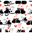 cool pattern funny loving cats vector image vector image