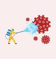 coronavirus disinfection clean and kill virus vector image