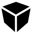 crate box or cube icon symbol geometry shipping vector image vector image