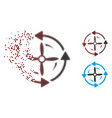 disintegrating pixel halftone screw rotation icon