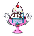 diving ice cream sundae character cartoon vector image vector image