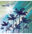 Exotic Palm Trees Background vector image vector image