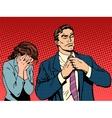Family quarrel man leaves woman cries vector image vector image