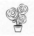 flower motif sketch for design vector image