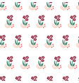 folk flowers seamless repeating background vector image vector image