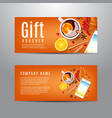 gift voucher with autumn composition vector image vector image