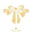 golden lace roses gift bow silhouette pattern vector image vector image