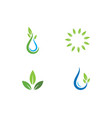 green leaf ecology nature element vector image