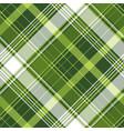 green tartan pixel check plaid seamless pattern vector image vector image