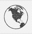 grunge texture gray world map globe transparent vector image vector image