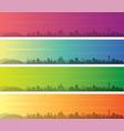 hiroshima multiple color gradient skyline banner vector image vector image