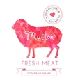 image meat symbol mutton silhouettes animal vector image vector image