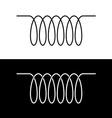 Induction spiral electrical symbol Black linear vector image