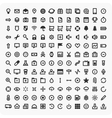 Large set of universal icons vector image vector image