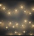 light glow effect star bursts golden color vector image vector image